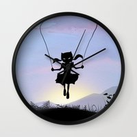 Cat Kid Wall Clock