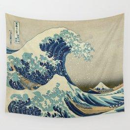 Great Wave Off Kanagawa (Kanagawa oki nami-ura or 神奈川沖浪裏) Wall Tapestry