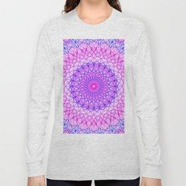 Pretty pink and violet mandala Long Sleeve T-shirt