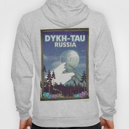 Dykh-Tau, Russia mountain poster. Hoody
