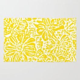 Gen Z Yellow Marigold Lino Cut Rug