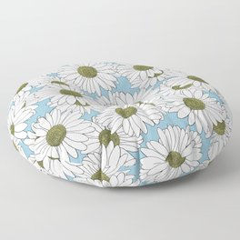 Daisy Blue Floor Pillow