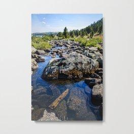 Beartooth Mountains Lake Metal Print