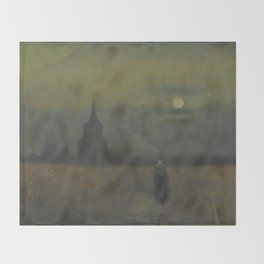 Vincent van Gogh - The Old Tower at Dusk Throw Blanket