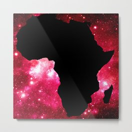 Galaxy Africa Red Metal Print