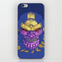 thanos iPhone & iPod Skins featuring Behold, Thanos! by Digital.Soapbox