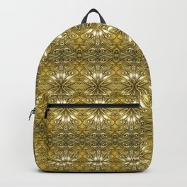 Golden Ornate Pattern Backpack