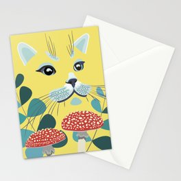 Yellow Forest Cat Stationery Cards
