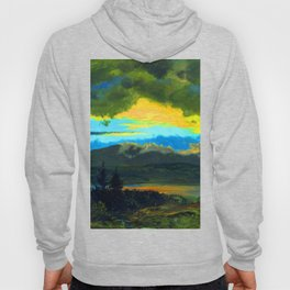 Frederic Edwin Church Sunset Across the Hudson Valley Hoody