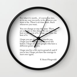 fitzgerald for what it's worth Wall Clock