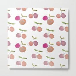 Watercolor cherries Metal Print