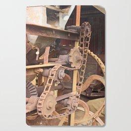 Old Chain Mechanism Cutting Board