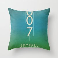 skyfall Throw Pillows featuring skyfall by alex lodermeier