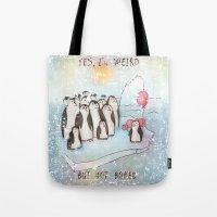 weird Tote Bags featuring Weird by Tatiana Ivchenkova
