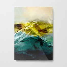Abstract Mountain Metal Print