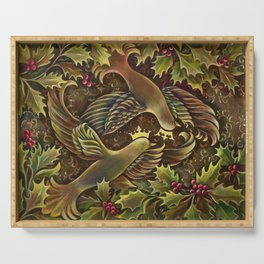 Peace Doves Serving Tray