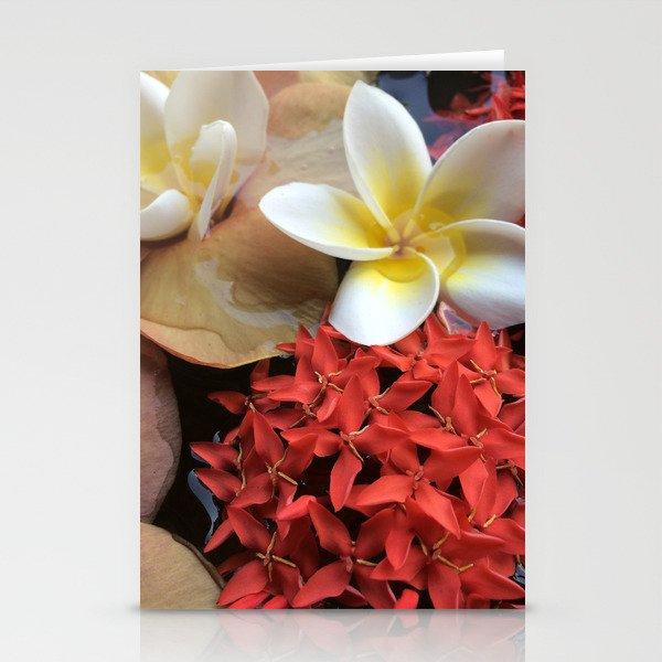 Frangipani & Ixora Stationery Cards