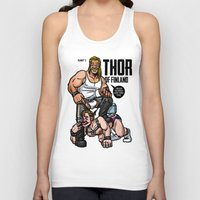 finland Tank Tops featuring Thor of Finland (Color Version) by Randy Meeks