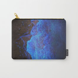 Night Ocean Glowing Waves - Bioluminescent Plankton Carry-All Pouch