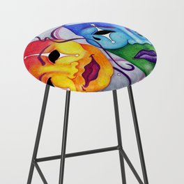 Comedy and Tragedy Bar Stool