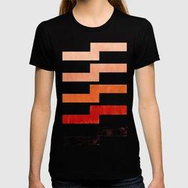 Burnt Sienna, Watercolor, Gouache, Painting, Geometric, Zig zag, Lightning Bolt, Pattern T-shirt