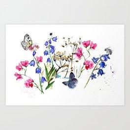 Wild Flowers Field Art Print