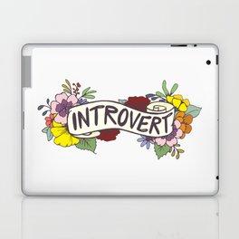 Floral Introvert Banner Laptop & iPad Skin