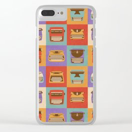 Retro Typewriters Clear iPhone Case