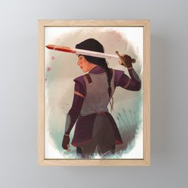 Lady Knight Framed Mini Art Print