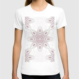 Feathers, Geometric Pattern in Mauve and Grey T-shirt