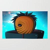 naruto Area & Throw Rugs featuring Naruto Obito Uchiha by BradixArt