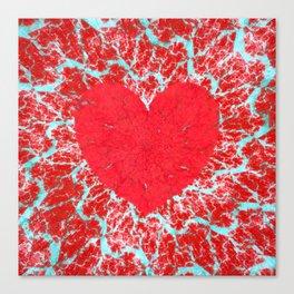 Frosty heart Canvas Print