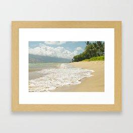 maui beach Framed Art Print