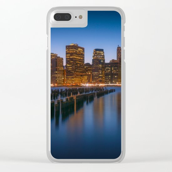 New York Night Lights Clear iPhone Case
