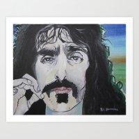 zappa Art Prints featuring Frank Zappa by Robert E. Richards