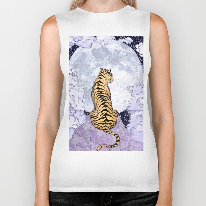 Tiger Moon | Colour Version Biker Tank