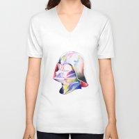 darth vader V-neck T-shirts featuring Darth Vader by Elliot Sloss