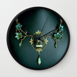 In Gloomy Bloom Wall Clock