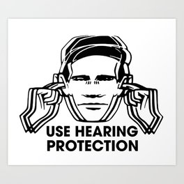 FAC 1 tribute - Factory Records - Use Hearing Protection Art Print