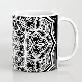 Black Heart Mandala Coffee Mug