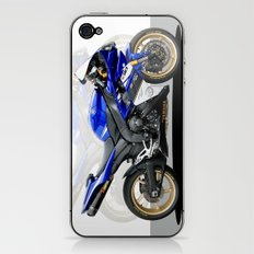 Yamaha R1 blue iPhone & iPod Skin