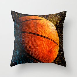 Unique basketball art print vs 2- Sports artwork Throw Pillow