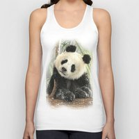china Tank Tops featuring China Bear by Trudi Simmonds