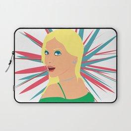 Portrait of a Surprised Blonde Laptop Sleeve