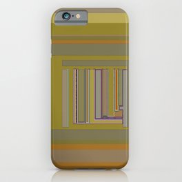 Anomaly in Brown Stripes graphic design iPhone Case