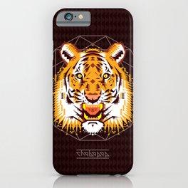 Geometric Tiger iPhone Case