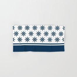 Sailing wheel pattern Hand & Bath Towel