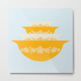 Butterfly Gold Cinderella Pyrex Metal Print