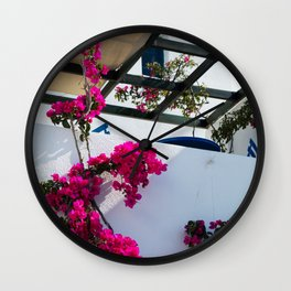 Flower house Wall Clock