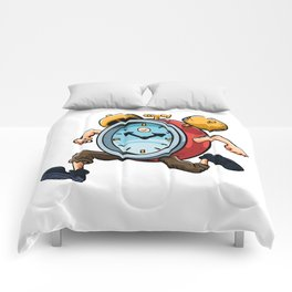 Clock Man Running Comforters